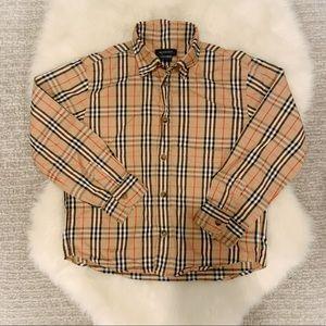Burberry Check Button Up Shirt